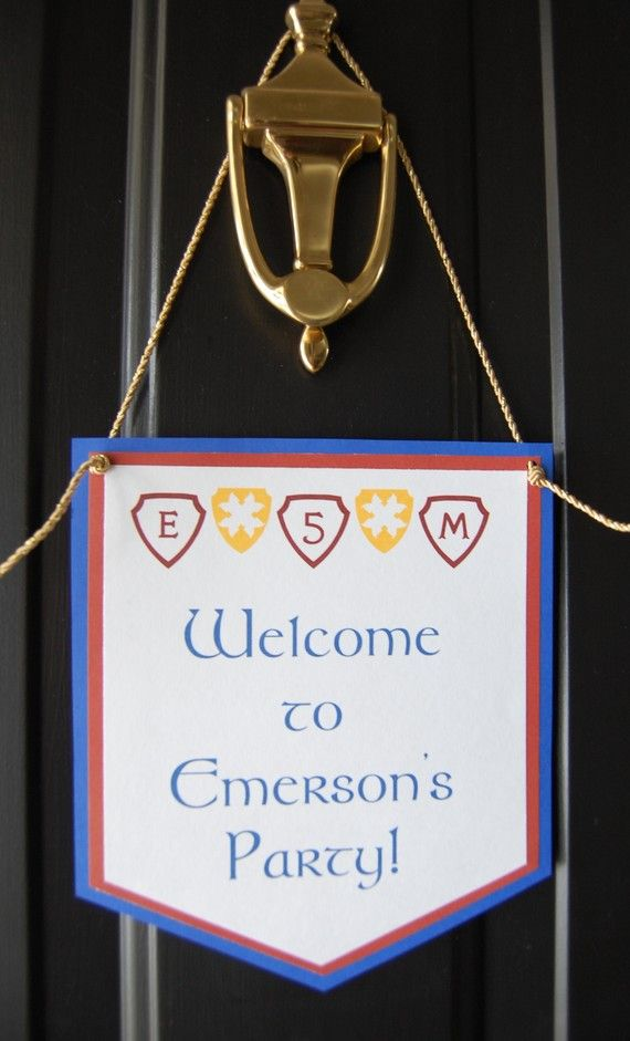 Medieval Knight Door Banner Use for classroom doors to post age groups & Medieval Knight Birthday Door Banner by AnyGoodIdeas on Etsy $6.00 ...