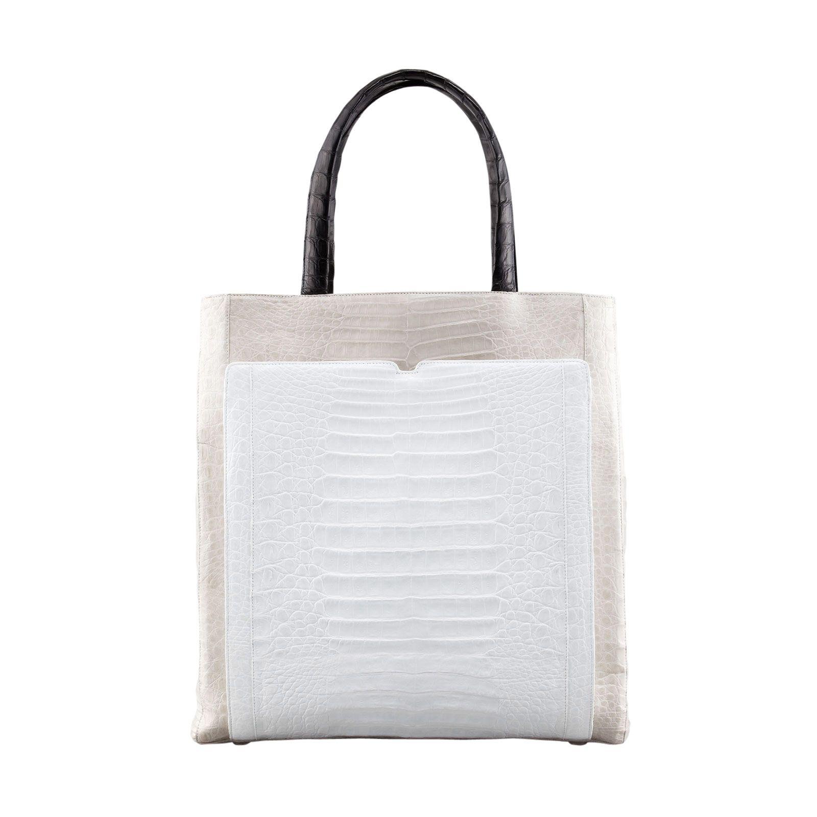 Nancy Gonzalez Crocodile Multicolor Shopper Bag