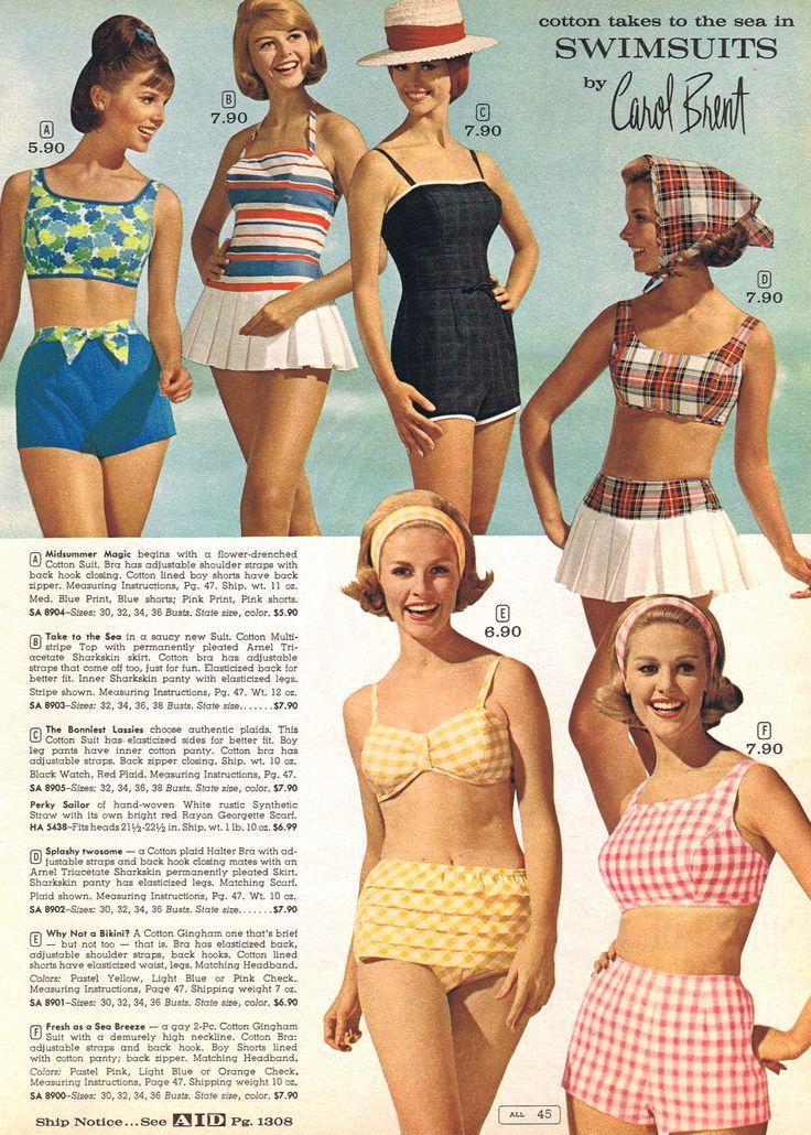 07fe5a5f51abf0d467ac0ec04ea5b06c 1960's fashion vintage fashion pinterest 60 s, 1960s and,70s Swimwear Fashion