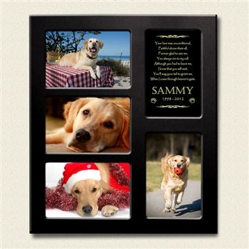 Golden Poems Collage Frame For Dogs Dog Memorial Dog Picture