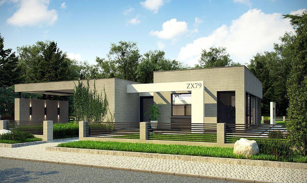 Fachadas De Casas Modernas De Una Planta Fachadas De Casas Modernas Casas Estilo Minimalista Planos De Casas