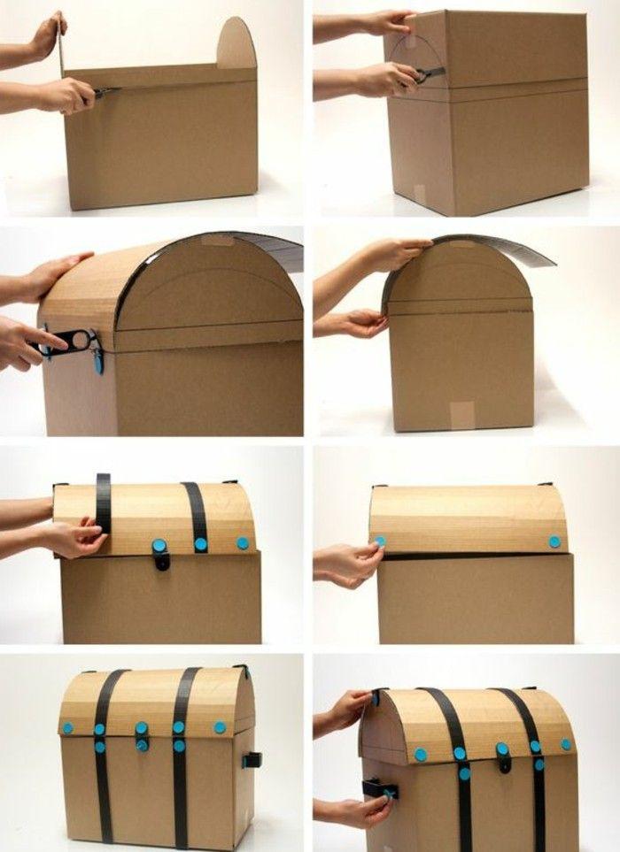 Schatzkiste basteln - hier finden Sie 47 kreative Ideen - Archzine.net