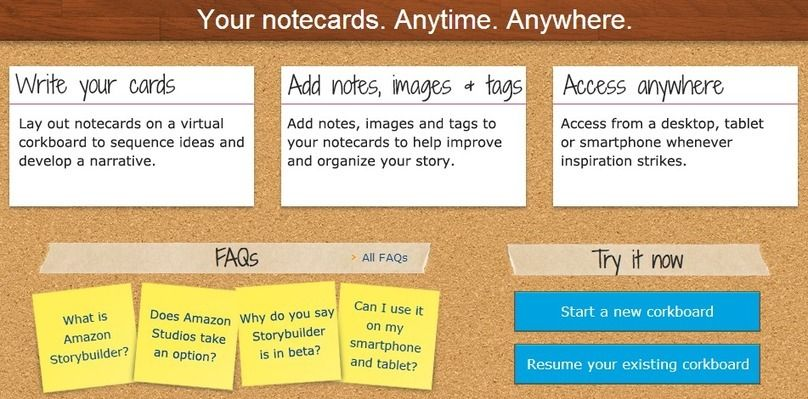 Amazon Launches Storybuilder: A Virtual Corkboard to Help Writers Visualize Their Next Script