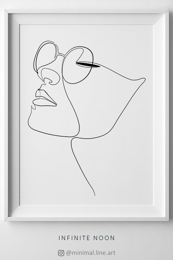 Woman Face Figure Line Drawing, One Line Woman Printable Wall Art, Line Art Print, Artwork Face Print, Minimalist Sketch, Eye Glasses Print #illustrationart