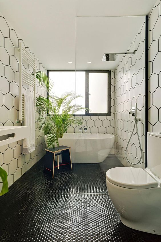 Photo of Amazing Wet Room Ideas: Top 12 – Black and White Bathroom