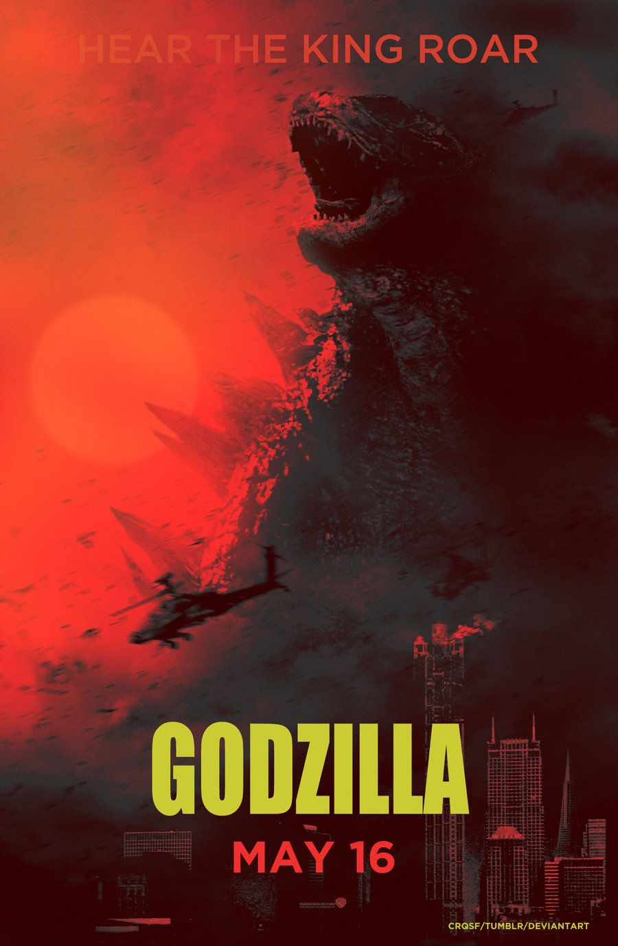 Godzilla - Alternative Fan Poster Created by Crqsf   Cool Stuff ...
