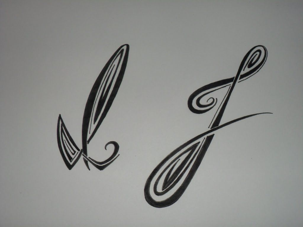 Letras tribales I y J. Bases elementales para dibujar letras ...