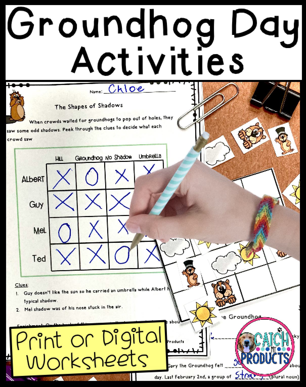 Groundhog Day Writing Math And Logic Puzzle Worksheets In 2021 Groundhog Day Activities Problem Solving Activities Critical Thinking Activities [ 1530 x 1210 Pixel ]