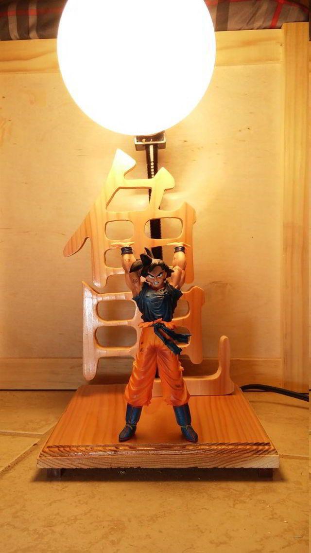 Dragon Ball Z Goku Spirit Bomb Lamp Geektak Anime Decor Dragon Ball Z Arts And Crafts Home Decor