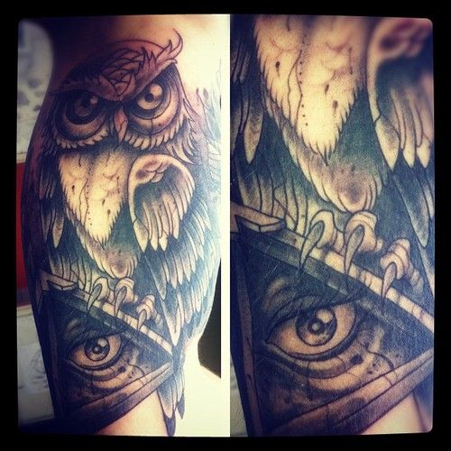 Owl Tattoo Meaning Illuminati