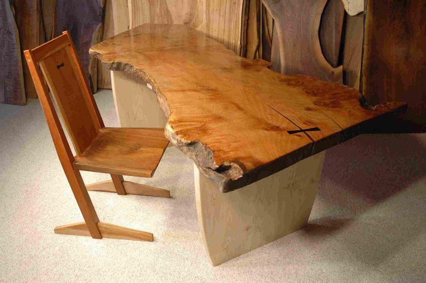 Burl Wood Desk Custom Wood Furniture Unusual Living Room