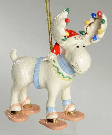 Lenox Annual Moose Ornaments at Replacements, Ltd Lenox Christmas, Holiday  Wishes, Christmas Lights - Lenox Annual Moose Ornaments At Replacements, Ltd All Tangled Up