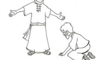 Doubting Thomas Coloring Pages Sunday School Doubting Thomas
