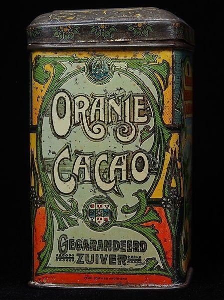 Oranje Cacao.gegarandeerd zuiver.