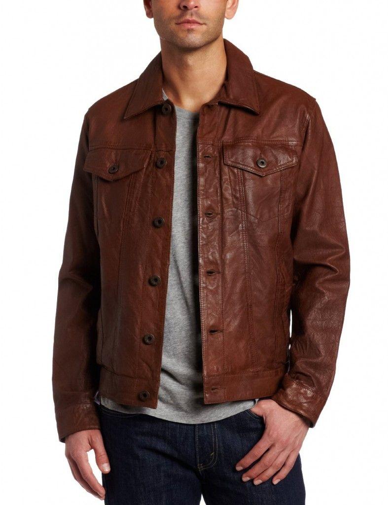 d2518a2bc Levi's leather trucker jacket   Haberdashery   Leather men, Jackets ...