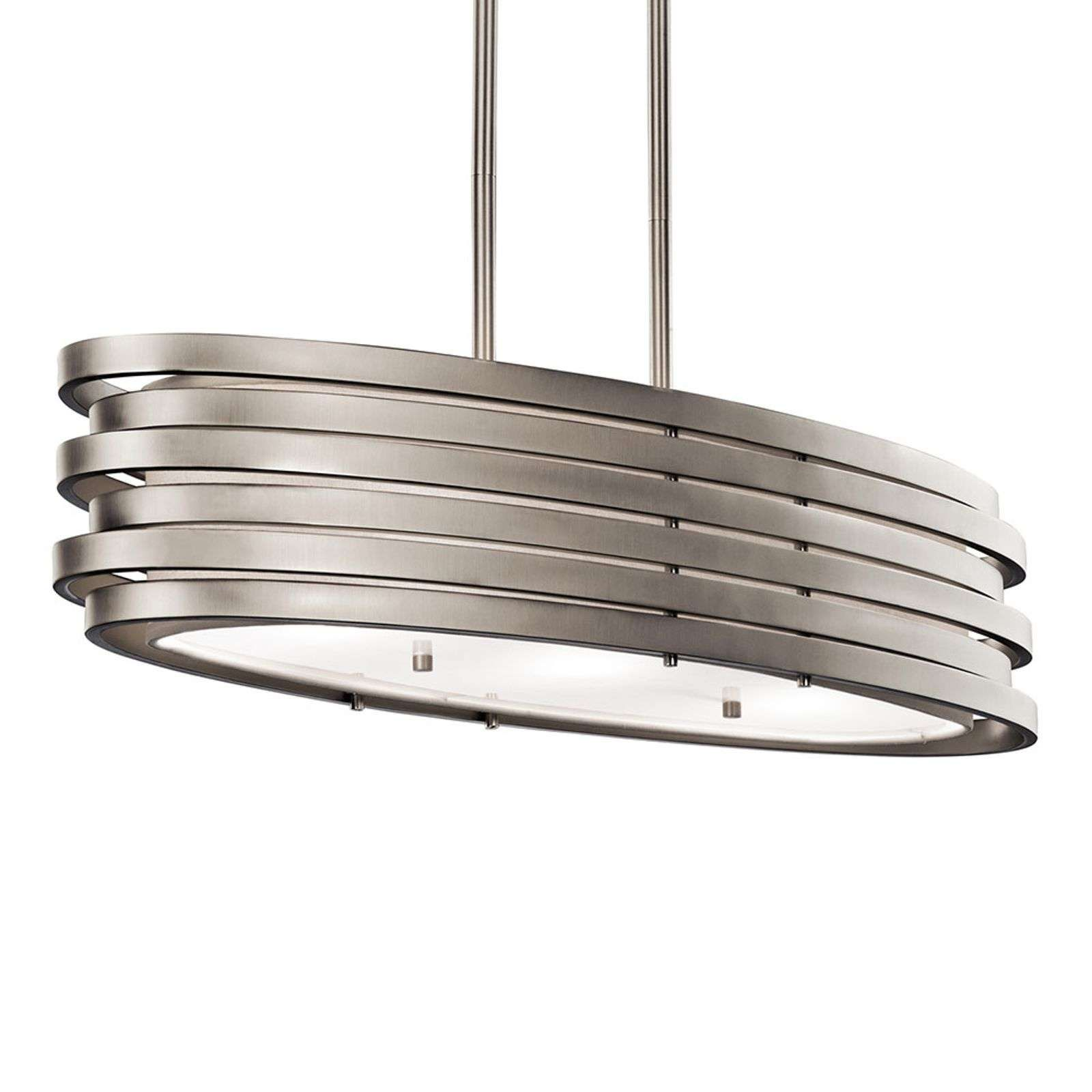 Hangelampe Roswell Ovale Form Moderne Luminaire Verre