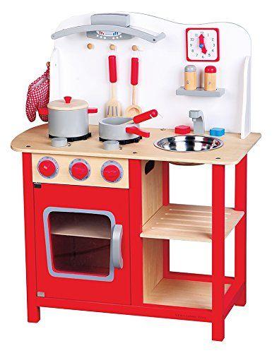 New Classic Toys Ref 1055 Jeu D Imitation Cuisine Bon Appetit Avec Accessoires Amazon Fr Jeux Et Jou Cuisine Bois Cuisine Blanche Et Bois Jouet Cuisine