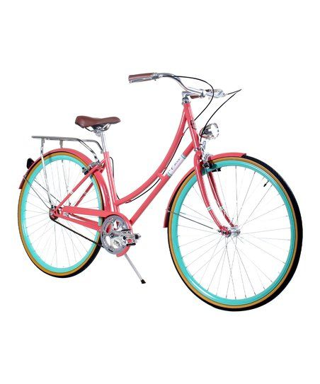 Zycle Fix Civic 7 Speed Women City Bicycle Bike Salmon 39 or 44 CM New