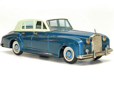 Antique Tin Toy Bandai Rolls Royce Silver Cloud Friction Car