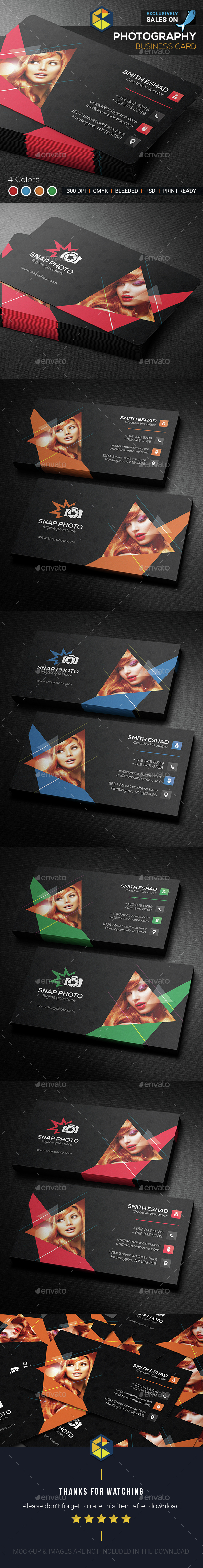 Photography Business Card Template PSD. Download here: http ...