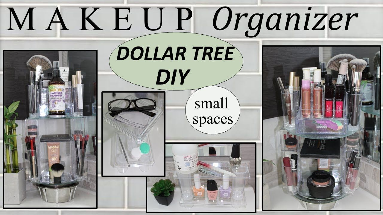 Makeup Storage Ideas 2019 Dollar Tree Diy Rotating Makeup