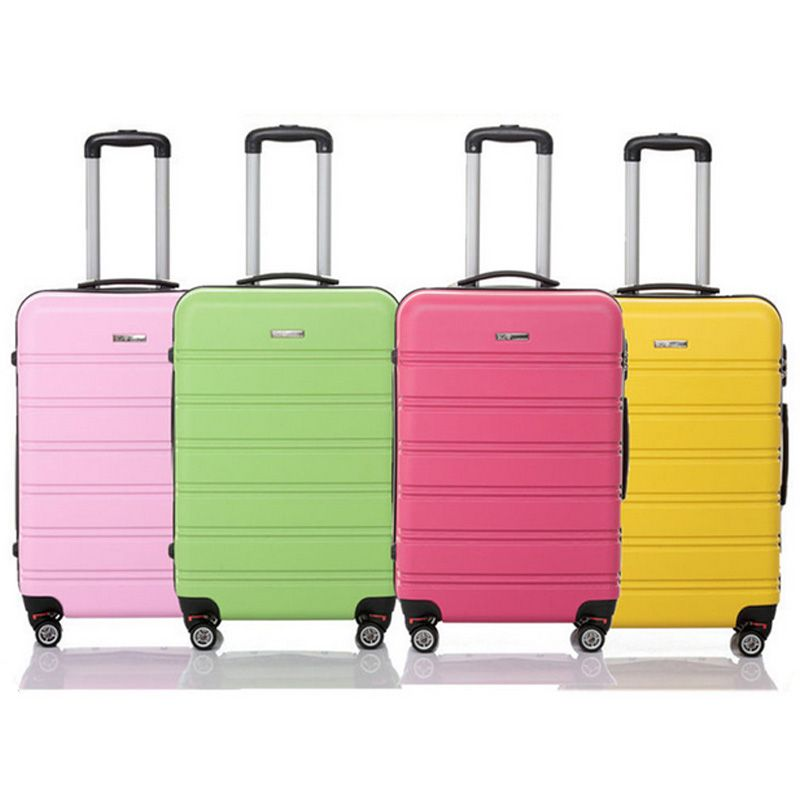 ABS 4 wheels hard shell trolley rolling luggage suitcase in six ...