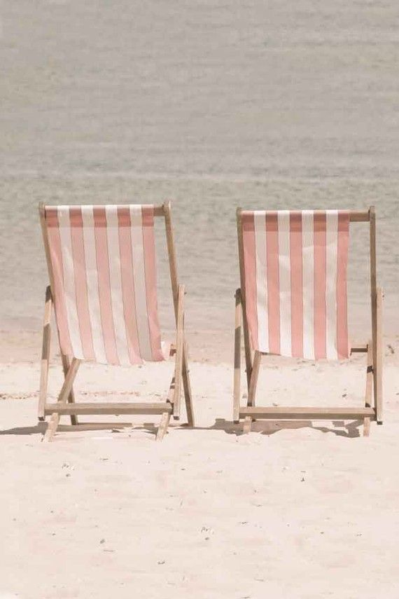 ♕ deck chairs on the beach <3