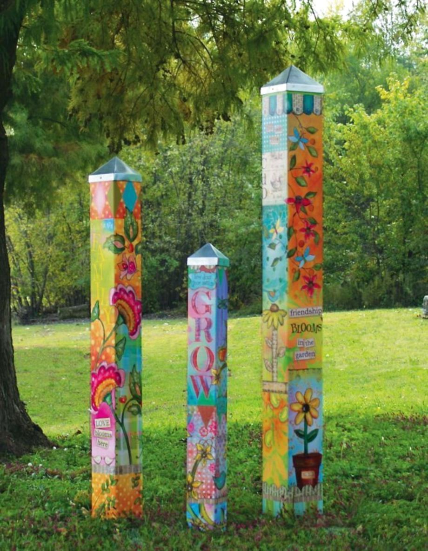 48 Amazing Garden Art For Kids Ideas Art Pole Garden Poles