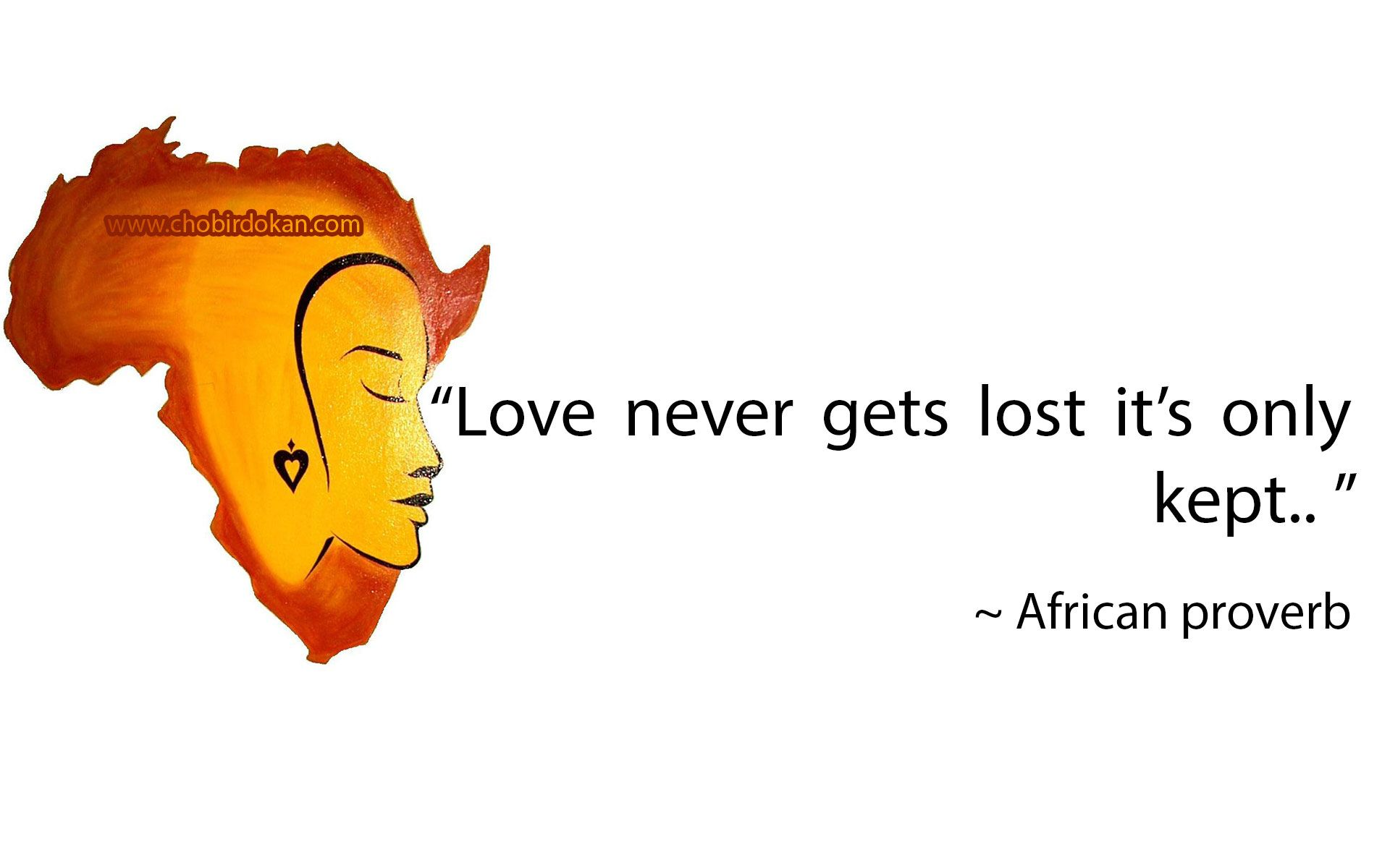 African proverbs about love