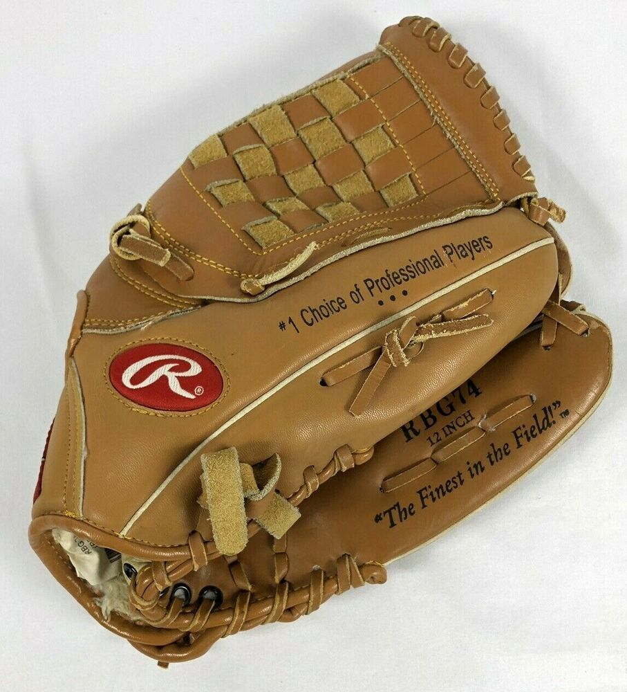 Rawlings Derek Jeter Model Rbg74 12 Baseball Glove Mitt Right Hand Throw Rawlings Derek Jeter Baseball Glove Size Baseball Glove