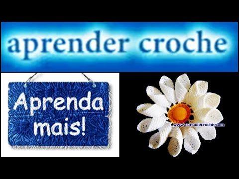 FLORES EM CROCHE MARGARIDA RAINHA COM FIO DE ALGODÃO - 001 - YouTube