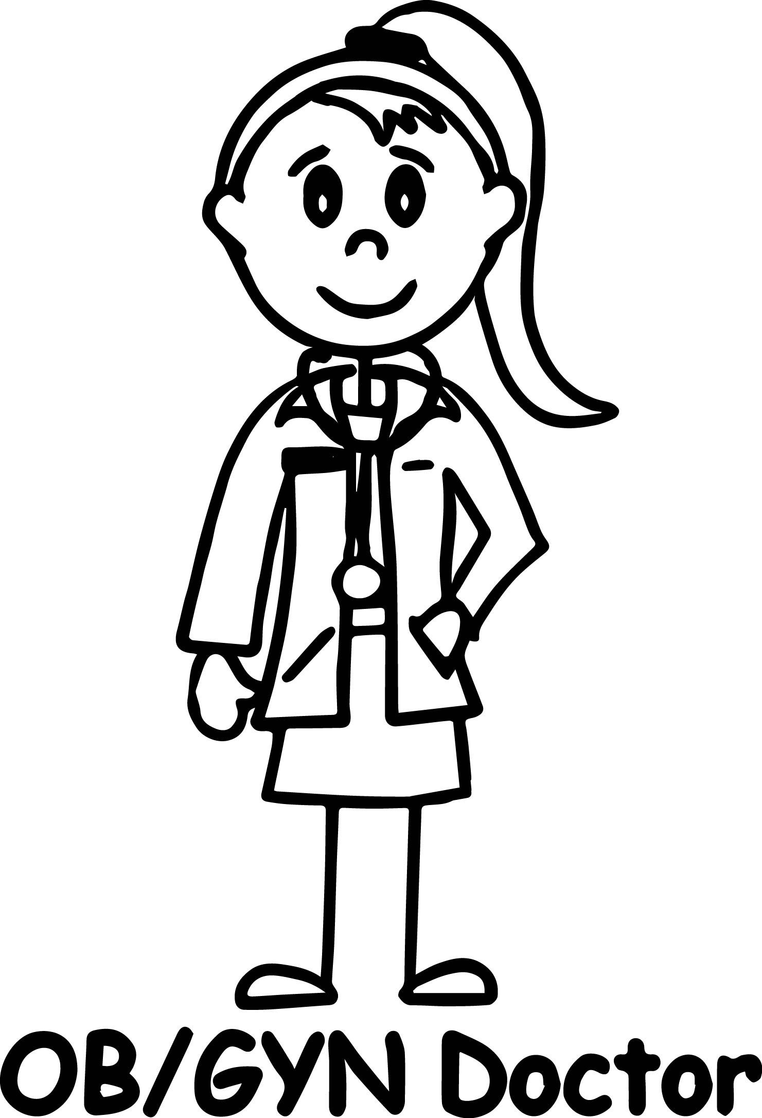 Nice Doctor Girl Coloring Page Ob Gyn Doctor