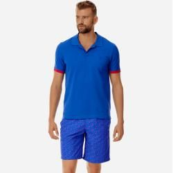 Photo of Men Ready to Wear – Solid cotton pique polo shirt for men – Polo shirt – Palatine – Blue – M