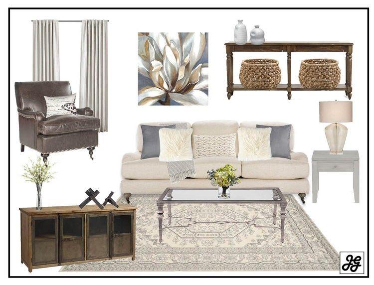 Mood Board Traditional Living Room Neutral Wood Rustic Elegant Grays Design Help Online Interior Design Elegant Interior Design Interior Design Rustic