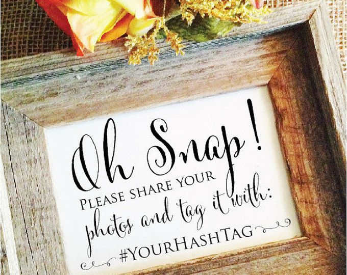 Wedding Hashtag Sign V3 Hashtag wedding sign Rustic