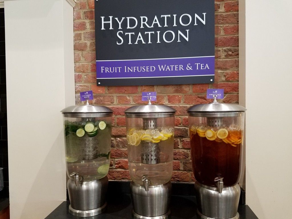 Dining at Furman:  Flavored Water Station