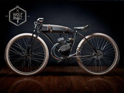 Wolfbuilt Motorised Bike Motorized Bicycle Motorcycle Bike