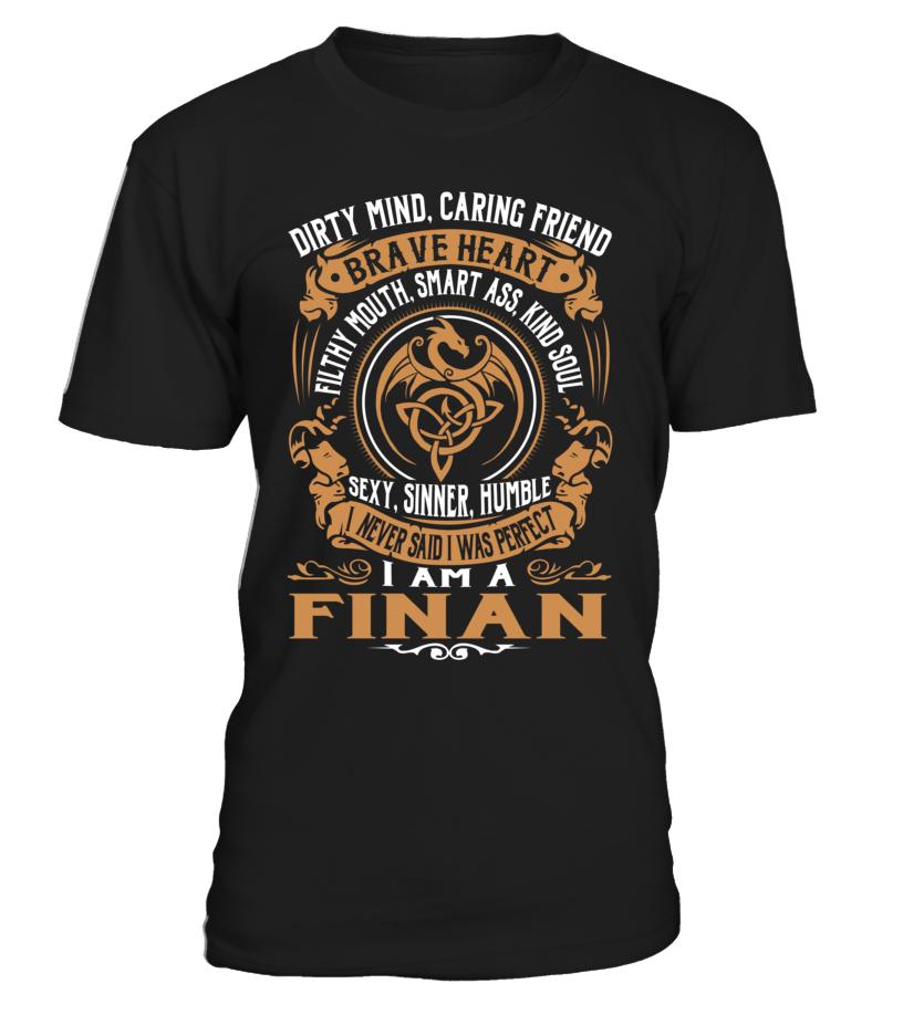 FINAN Brave Heart Last Name T-Shirt #Finan
