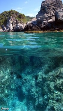 Above and below the sea in Corfu Greece