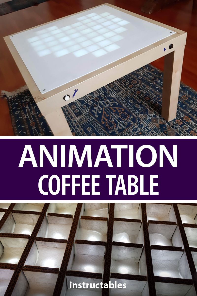 Animation Coffee Table Simple Arduino Projects Arduino Ikea Lack Table [ 1200 x 800 Pixel ]