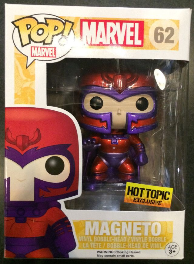 Funko Pop Vinyl Xmen Magneto Metallic No.62 Hot Topic Exclusive RARE