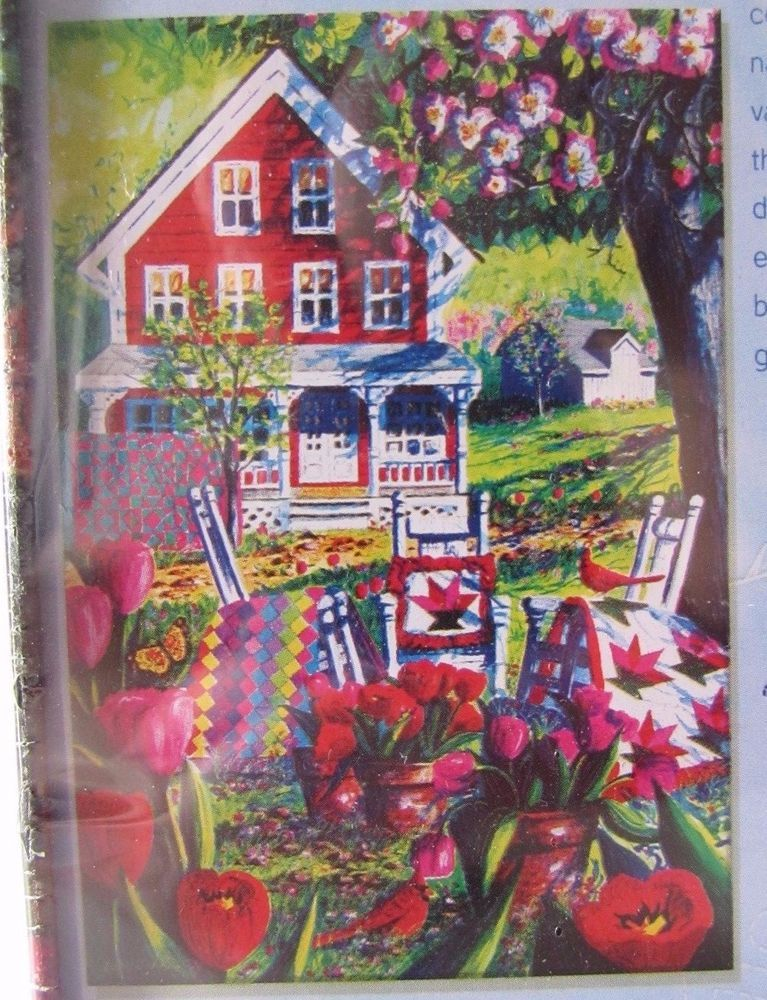 Diane Phalen Quilters Club Joyful Blooms 500 Piece Puzzle In Tin Quilt Farmhouse #MasterPieces