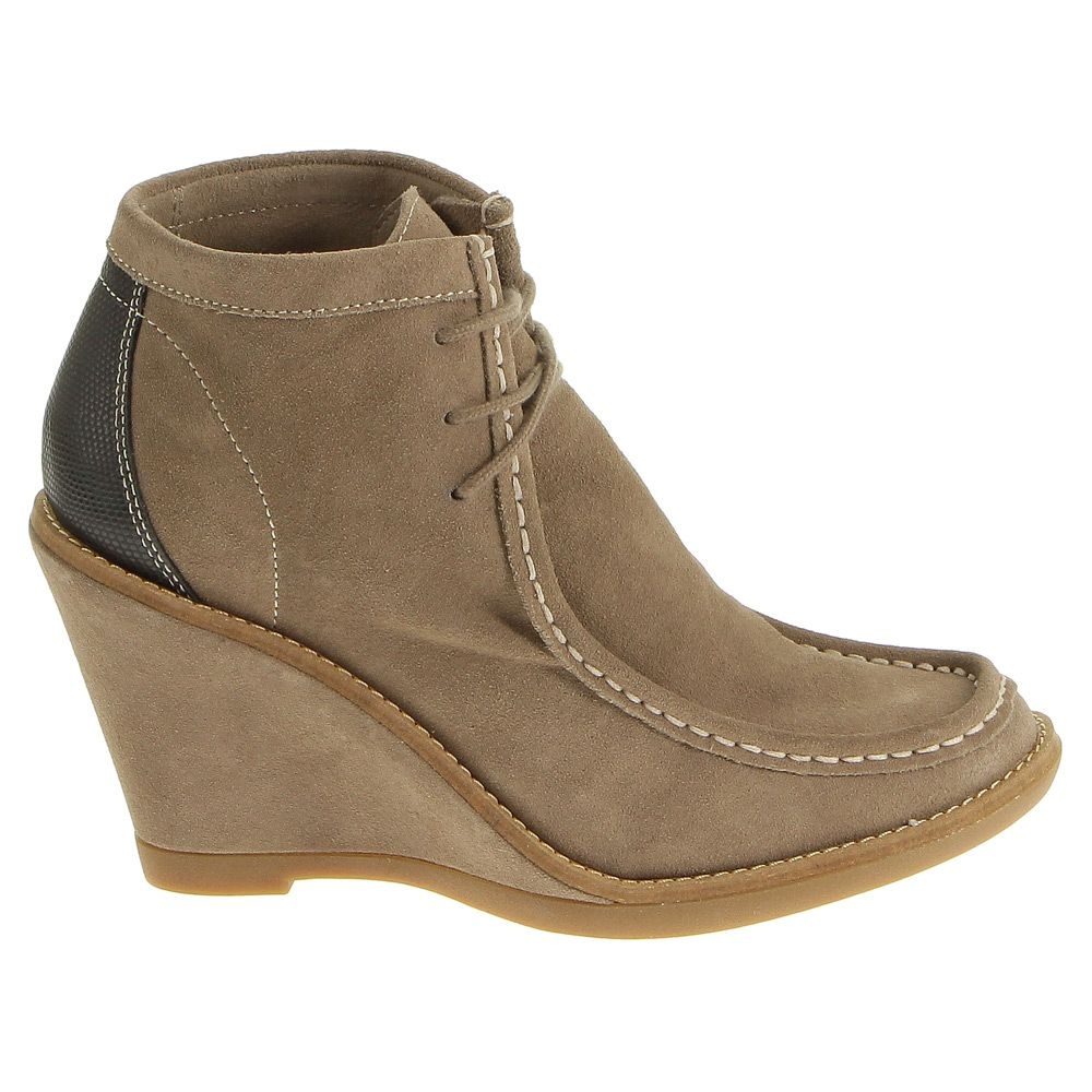 Women S Taupe Suede Hush Puppies Cignet Wedge Wl Shoes 282226 78 40 Women Fashion Store Fashion Shoes Shoes Hush Puppies Suede