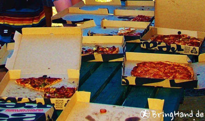 Gemeinsam Pizza bestellt