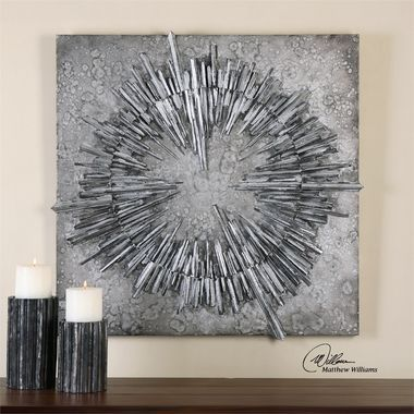Uttermost Nebulus Silver Wall Art