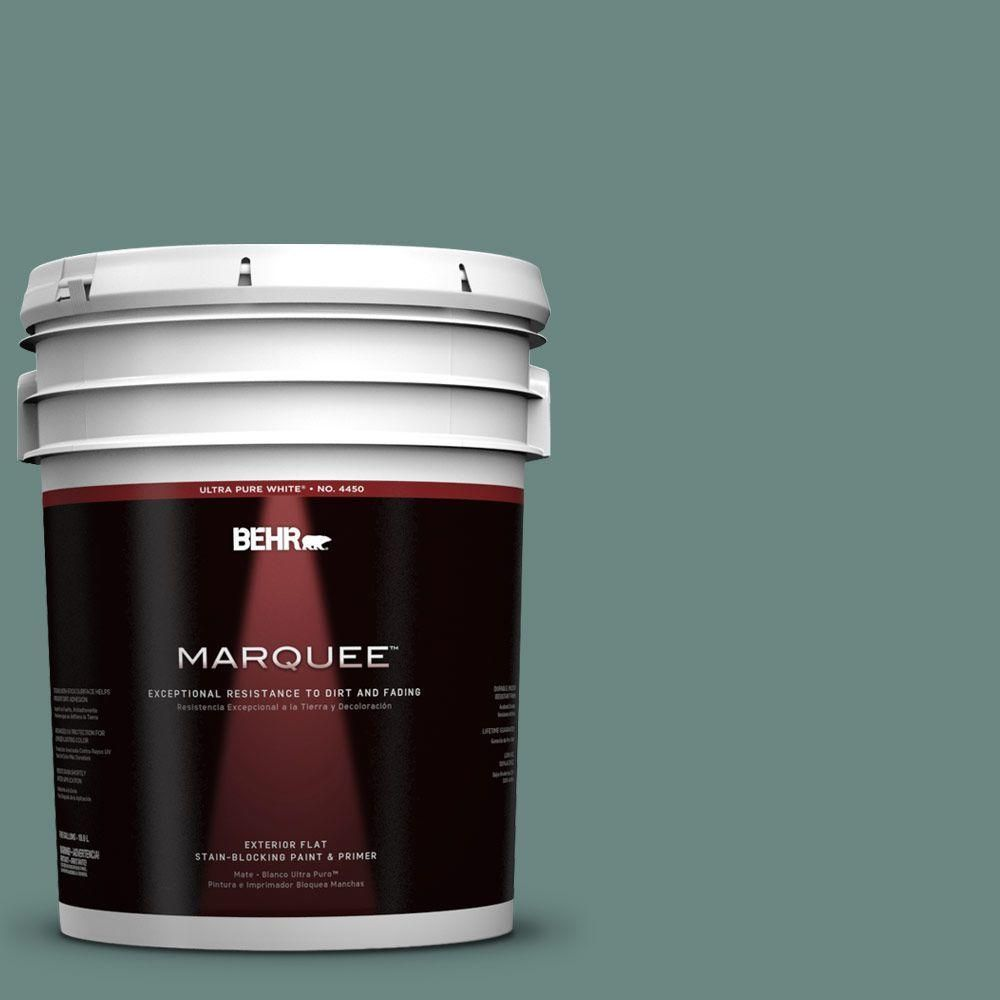 Behr Marquee 5 Gal 480f 5 Marsh Creek Flat Exterior Paint And Primer In One 445305 Behr Marquee Exterior Paint Behr Marquee Paint