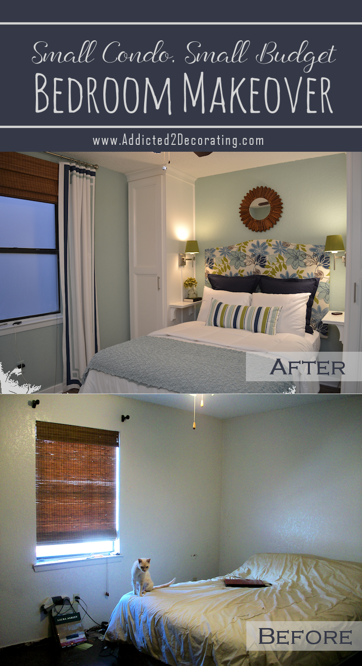 Small Condo Small Budget Bedroom Makeover Before After Addicted 2 Decorating Budget Bedroom Makeover Small Bedroom Makeover Small Guest Bedroom