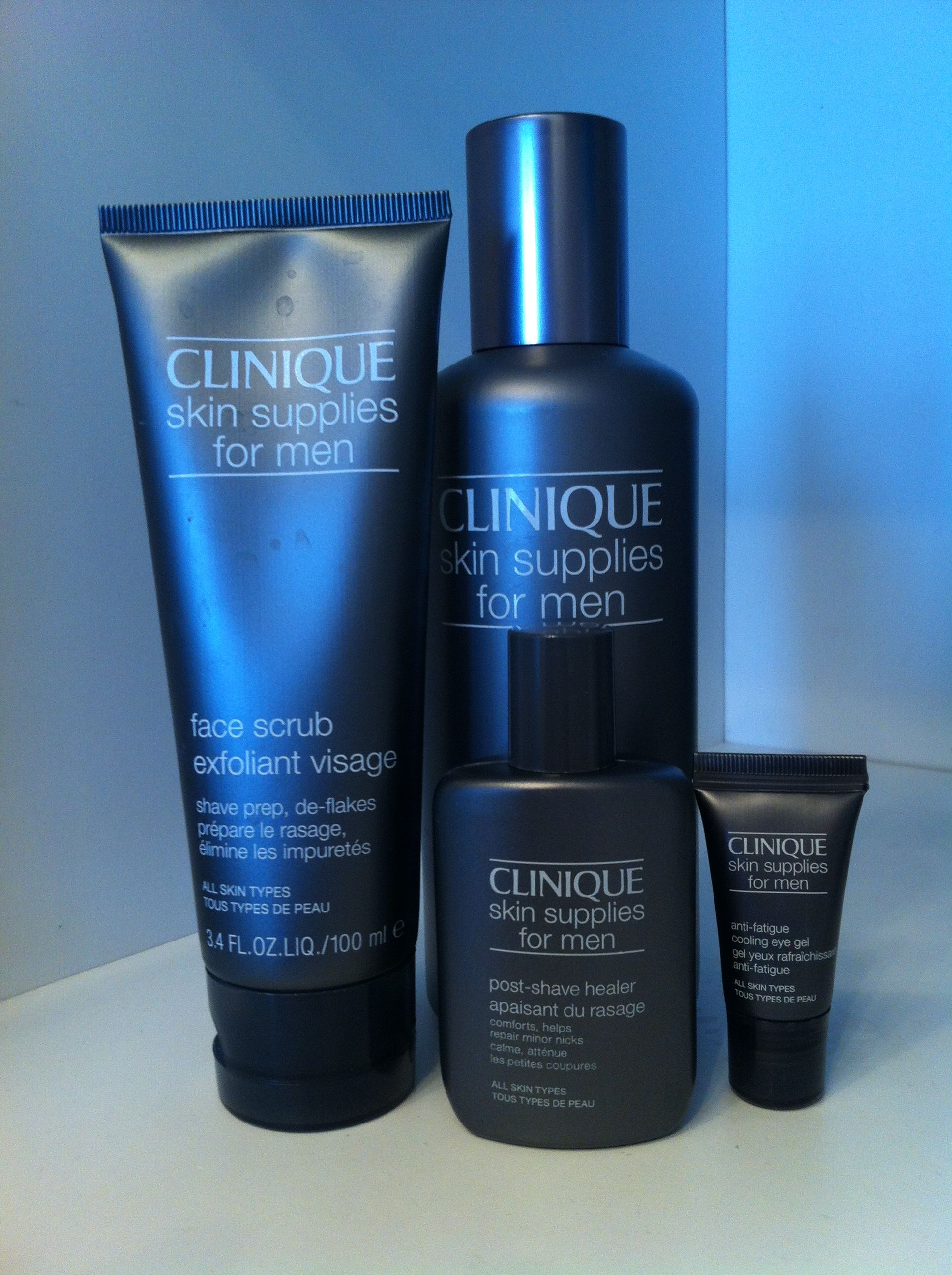 I say it's the best cosmetics brand for men clinique