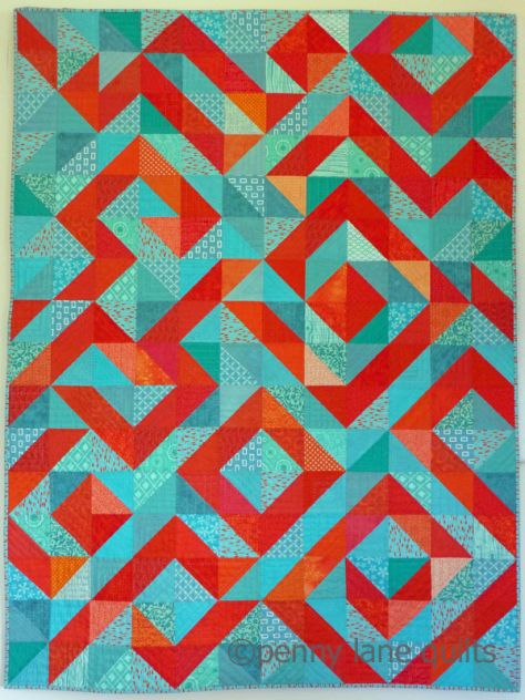 Coral Reef (Hand Quilted category) Blogger's Quilt Festival
