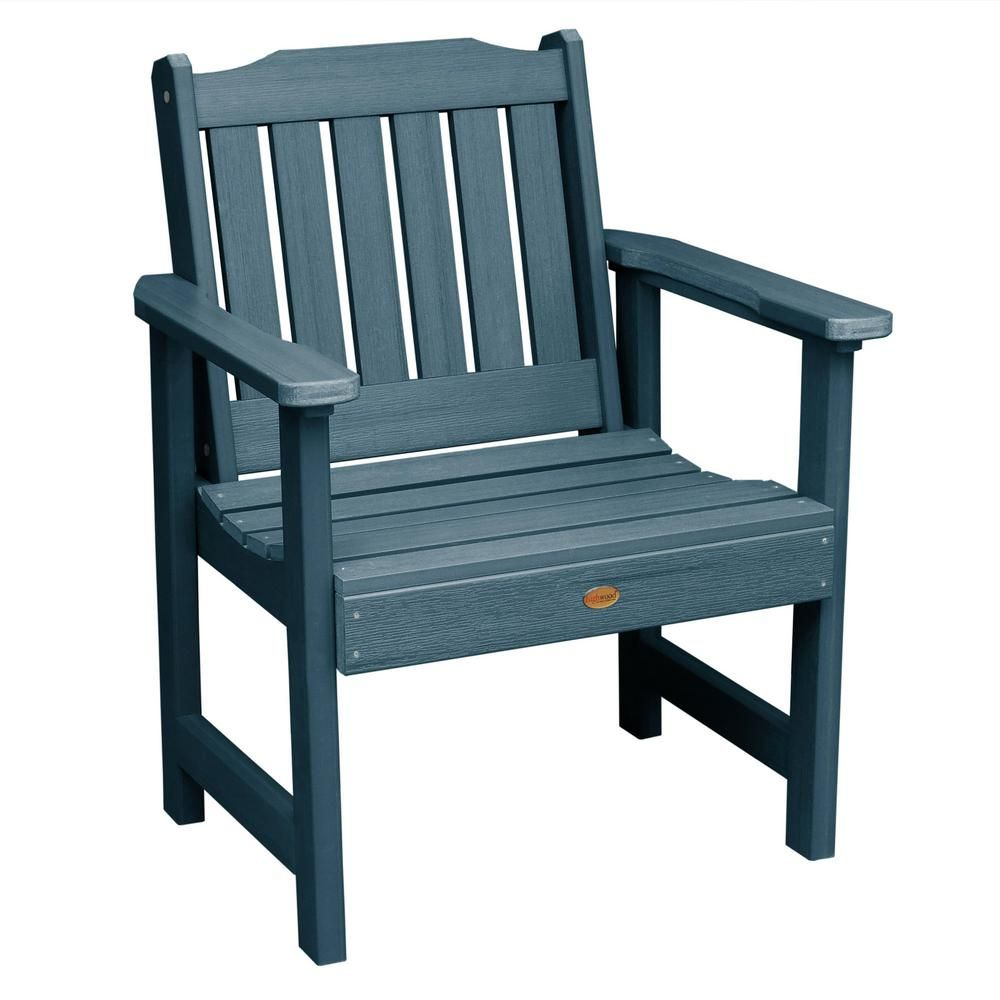 Highwood Lehigh Nantucket Blue Recycled Plastic Outdoor Lounge